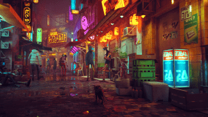 STRAY: A Third-Person Cat Adventure Game Set Amidst The Detailed Neon-Lit Alleys Of A Decaying Cybercity!